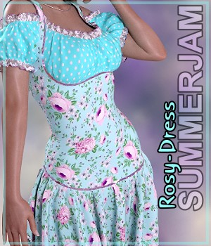 Summerjam- Rosy-Dress 3D Figure Assets LUNA3D