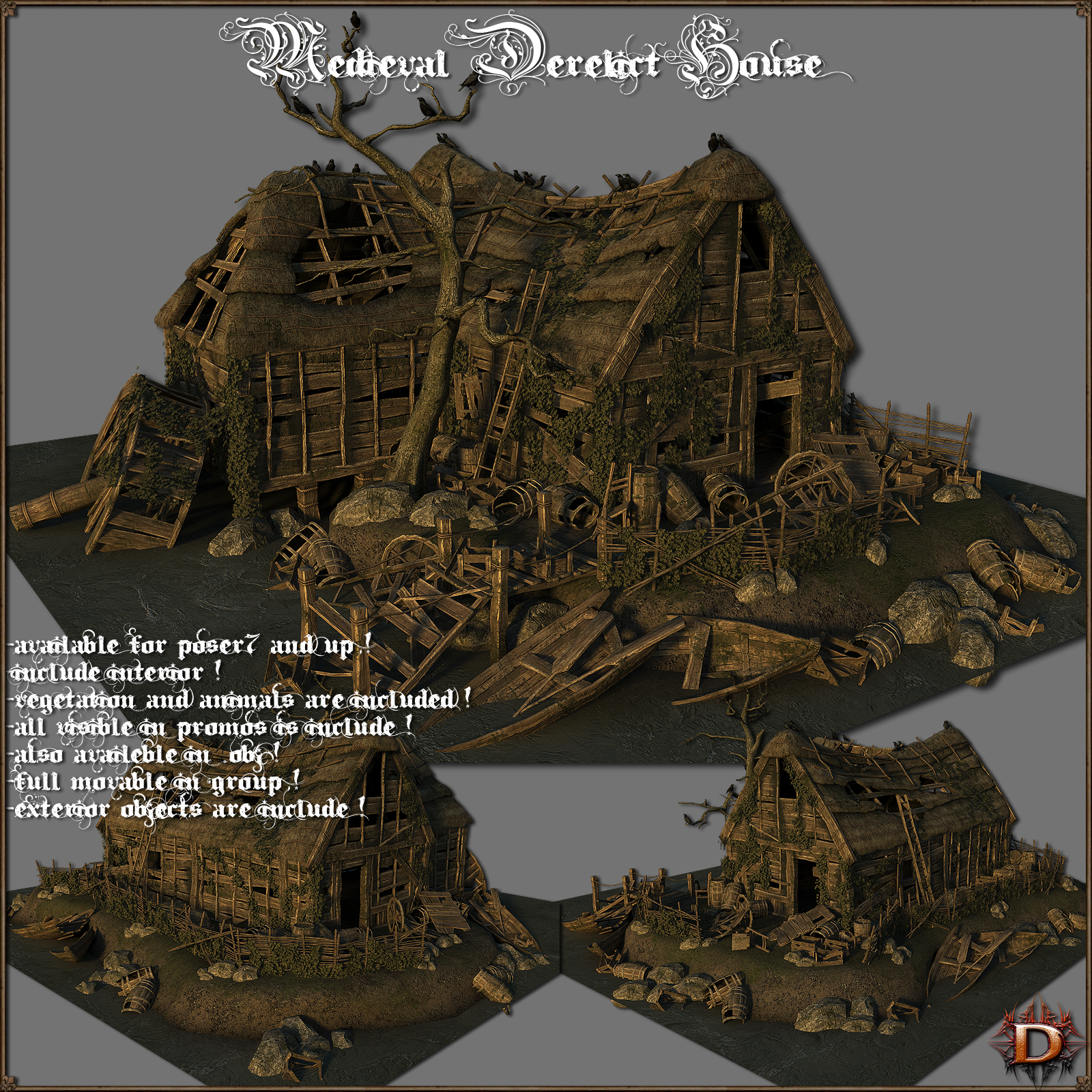 Medieval_Derelict_House - Extended License