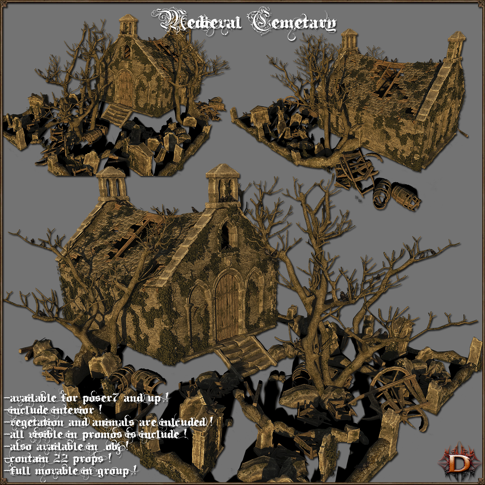 Medieval Cemetary - Extended License