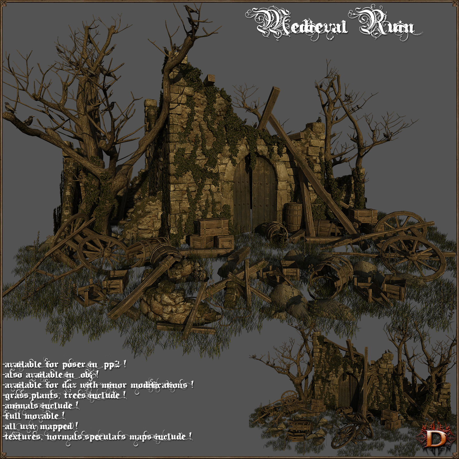 Medieval Ruin - Extended License
