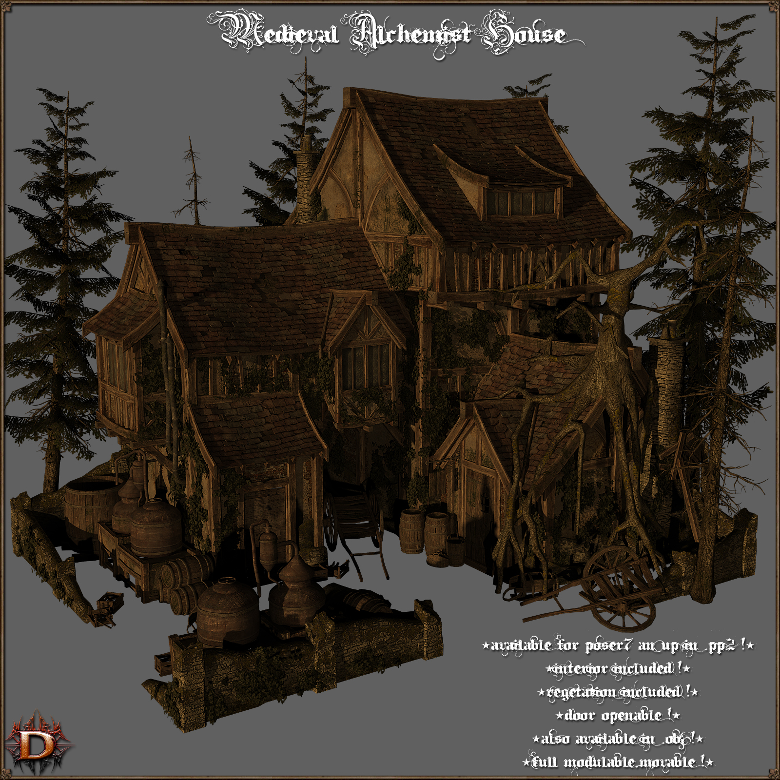 Medieval_Alchemist_House - Extended License