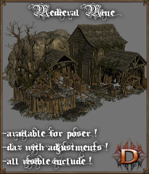 Medieval Mine - Extended License 3D Models Extended Licenses Dante78
