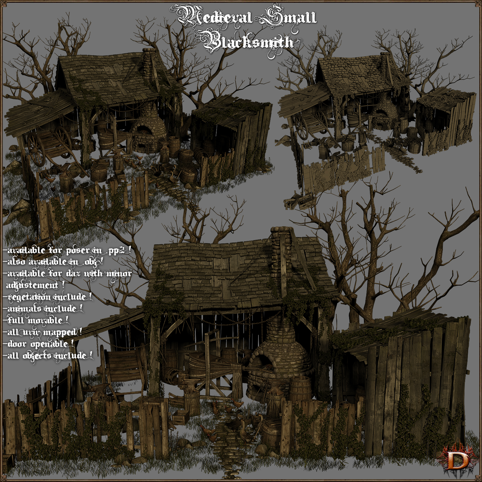 Medieval Small Blacksmith - Extended License