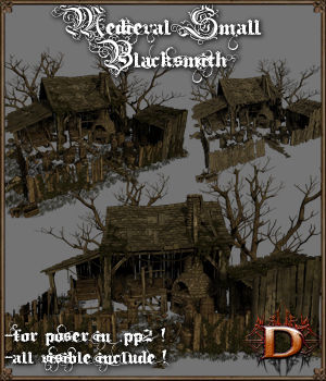 Medieval Small Blacksmith - Extended License 3D Models Extended Licenses Dante78