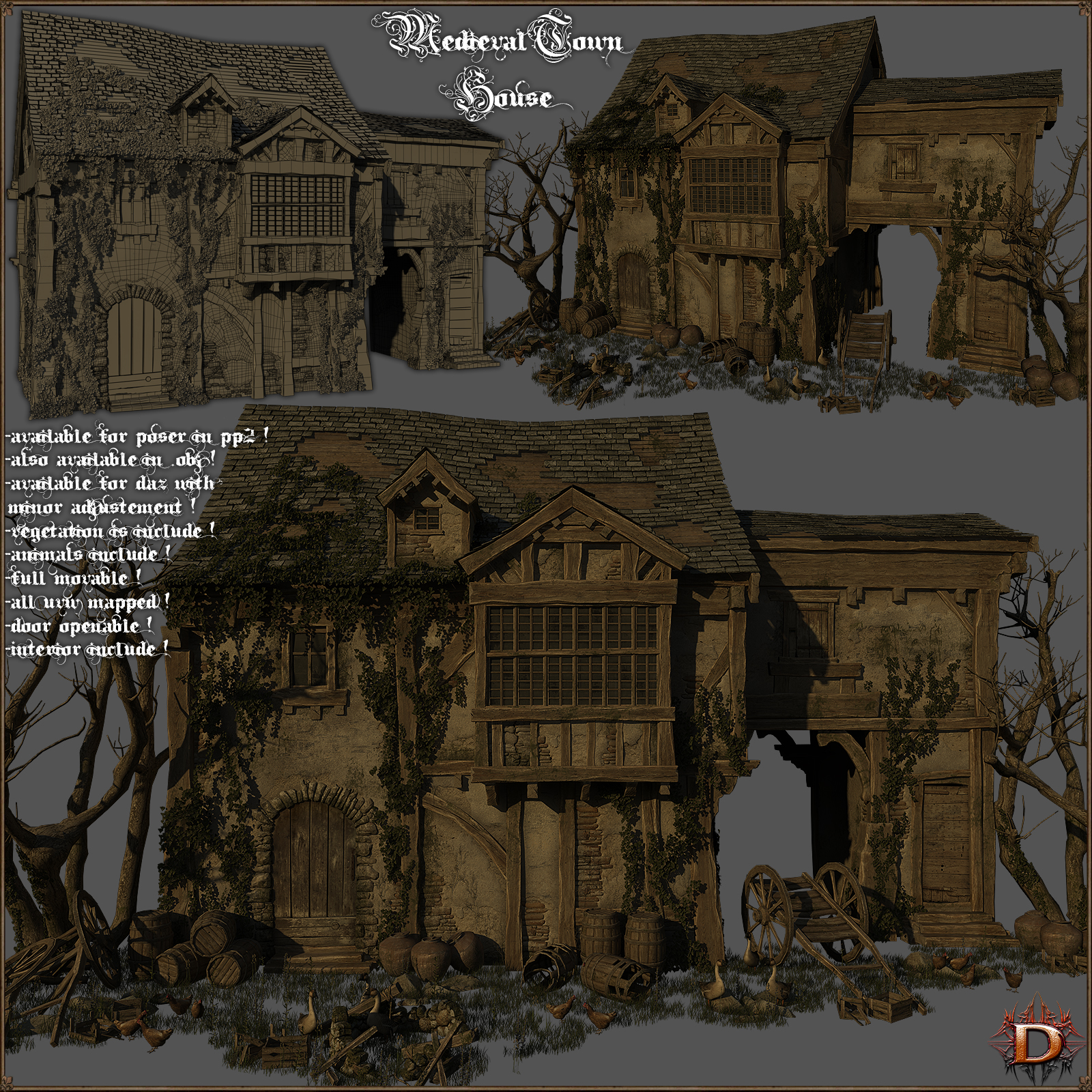 Medieval Town House - Extended License