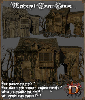 Medieval Town House - Extended License 3D Models Extended Licenses Dante78