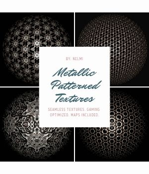 12 Metallic Patterned Textures - Merchant Resource 2D Graphics Merchant Resources nelmi