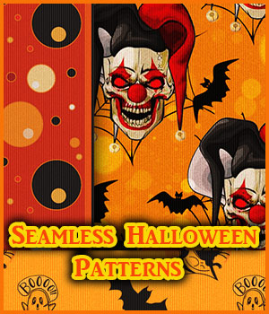 Seamless Halloween Patterns 2D Graphics Merchant Resources antje