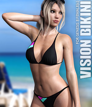 Vision Bikini for Genesis 8 Females 3D Figure Assets lilflame