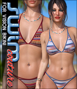 SWIM Couture for Vision Bikini G8F 3D Figure Assets Sveva