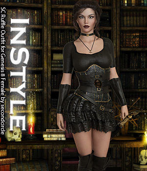 InStyle - SC Ruffle Outfit for Genesis 8 Female 3D Figure Assets -Valkyrie-