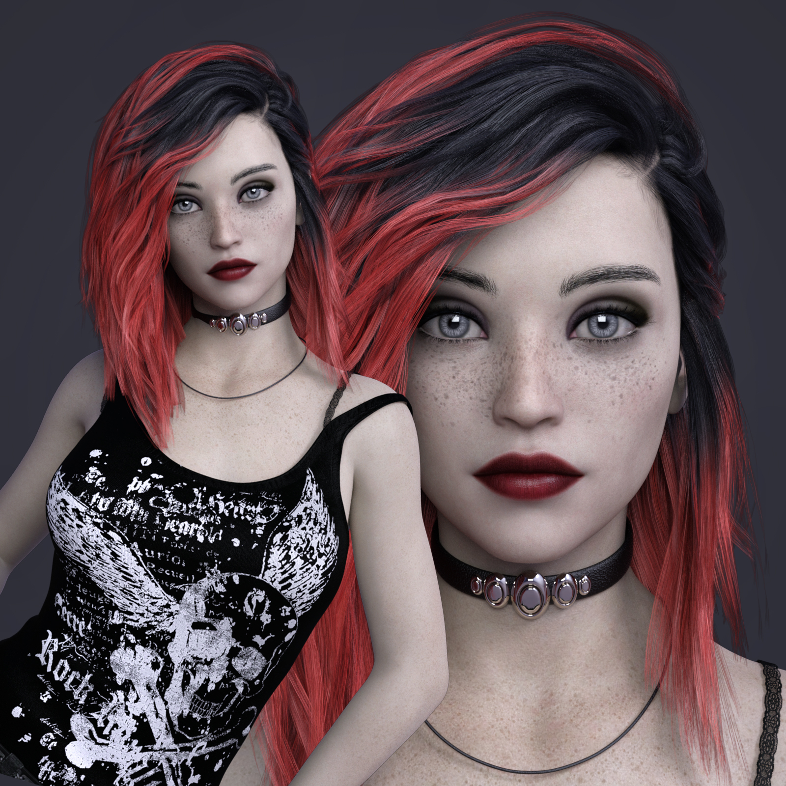 MbM Ophelia for Genesis 3 and 8 Female