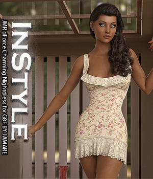 InStyle - JMR dForce Charming Nightdress for G8F 3D Figure Assets -Valkyrie-