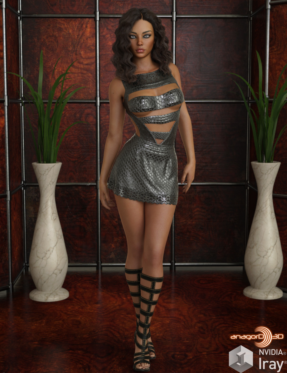 VERSUS - Midnight Girl Clothing Set for Genesis 8 Females