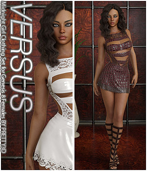VERSUS - Midnight Girl Clothing Set for Genesis 8 Females 3D Figure Assets Anagord