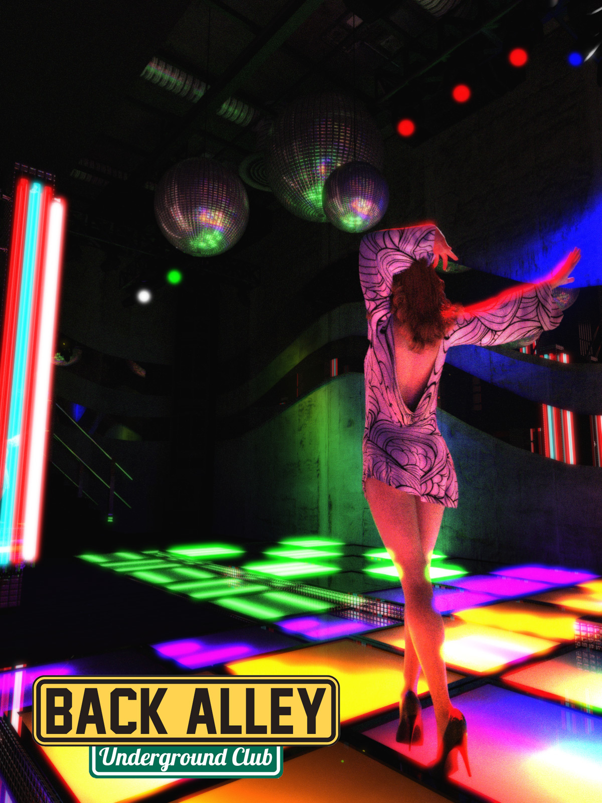 Back Alley Underground Club for DS Iray by powerage