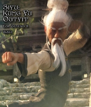 Sifu: Kung Fu Master Outfit for G8M 3D Figure Assets Disciple3d