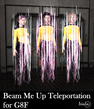 Beam Me Up Teleportation for G8F 3D Figure Assets biala