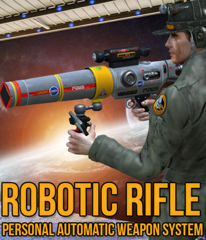 Robotic Rifle 3D Models Cybertenko