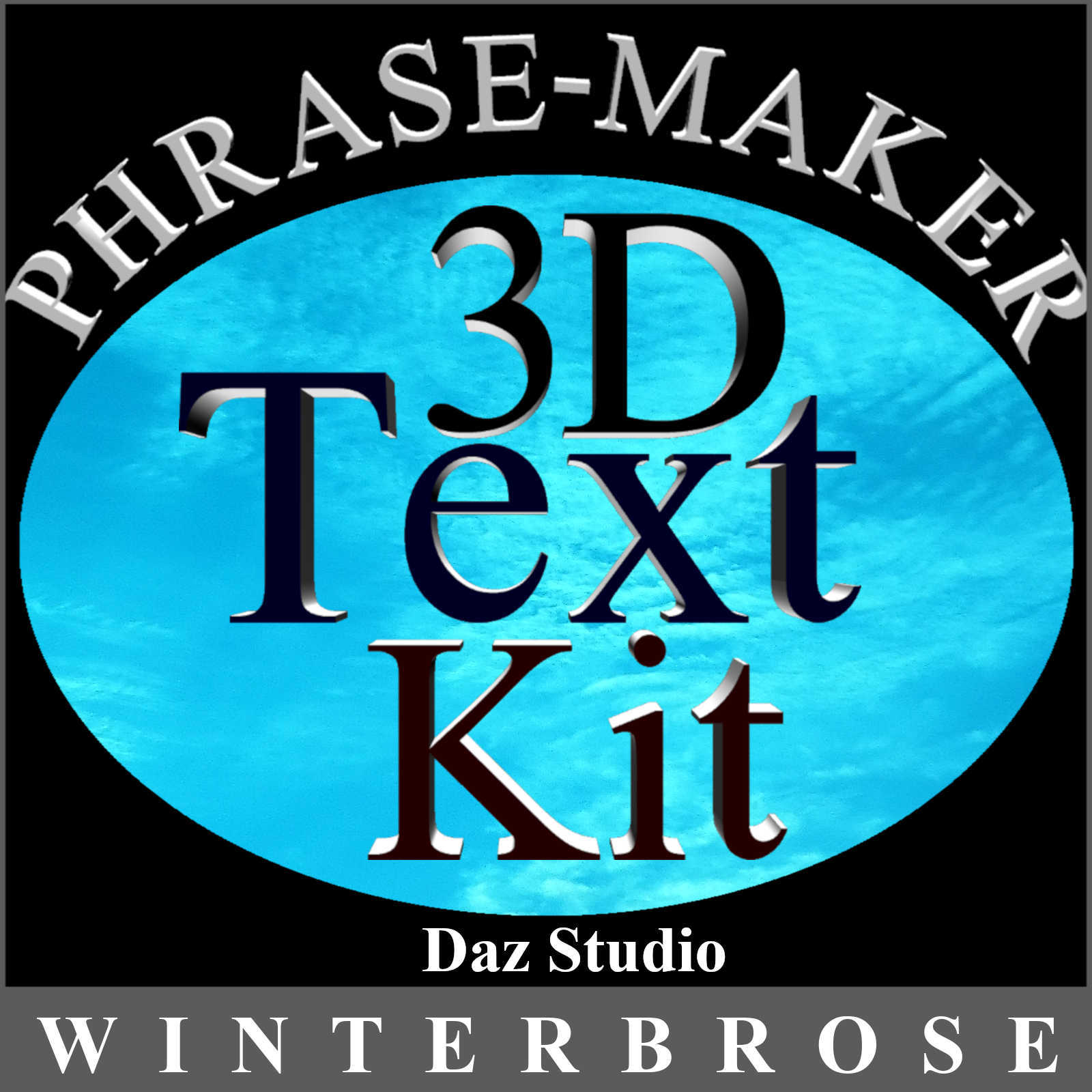 PHRASE-MAKER, 3D Writing and Design Scripts for Daz Studio with Bonus 3D Font