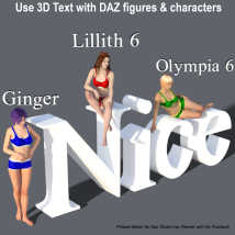 PHRASE-MAKER, 3D Writing and Design Scripts for Daz Studio with Bonus 3D Font image 9