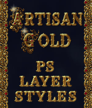 Artisan Gold PS Layer Styles 2D Graphics Merchant Resources fractalartist01