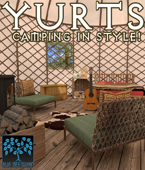 Yurts for Poser 3D Models BlueTreeStudio