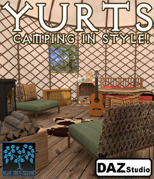 Yurts for Daz Studio 3D Models BlueTreeStudio