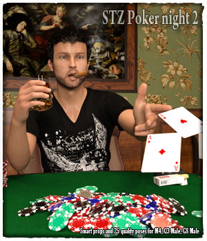 STZ Poker Night 2 3D Figure Assets santuziy78