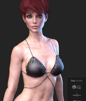X-Fashion Heavy Sensual Bikini for Genesis 8 Females 3D Figure Assets xtrart-3d