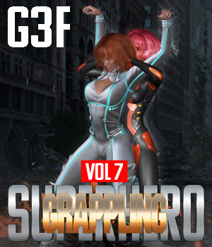 SuperHero Grappling for G3F Volume 7 3D Figure Assets GriffinFX