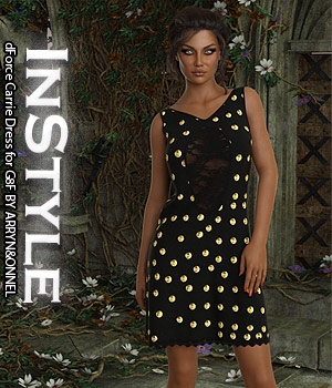 InStyle - dForce Carrie Dress for G8F 3D Figure Assets -Valkyrie-