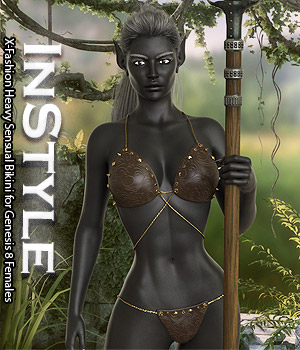 InStyle - X-Fashion Heavy Sensual Bikini for Genesis 8 Females 3D Figure Assets -Valkyrie-
