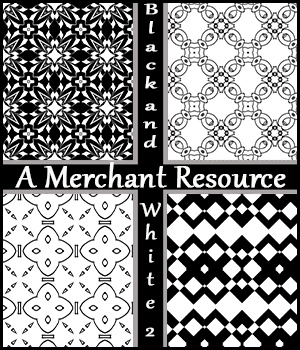 Black and White Merchant Resource 2 2D Graphics Merchant Resources adarling97