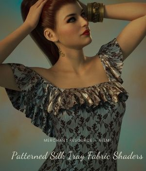 Patterned Silk Iray Shaders Vol2 3D Figure Assets Merchant Resources nelmi