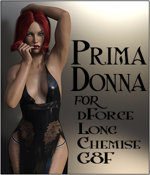 Prima Donna for Long Chemise G8F 3D Figure Assets SWTrium