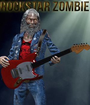 Rock Star Zombie for Herr Cadaver 3D Figure Assets 3D Models Cybertenko