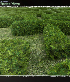 3D Scenery: Hedge Maze 3D Models ShaaraMuse3D