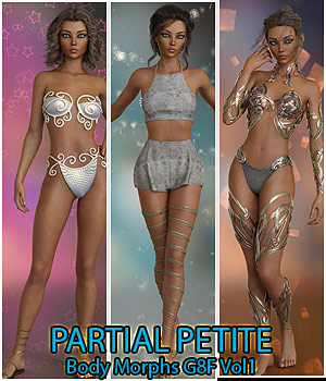 Partial Petite Body Morphs G8F Vol 1 3D Figure Assets Merchant Resources Anagord