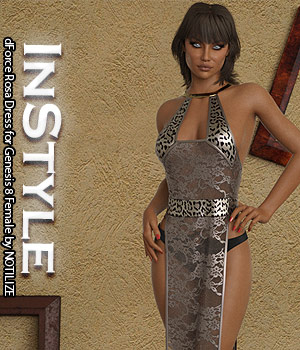 InStyle - dForce Rosa Dress for Genesis 8 Female 3D Figure Assets -Valkyrie-