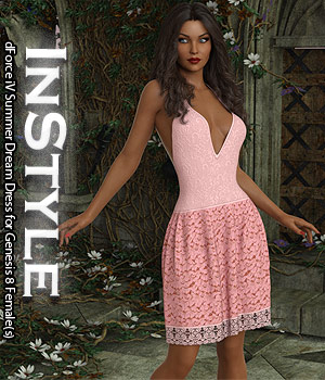 InStyle - dForce iV Summer Dream Dress for Genesis 8 Female(s) 3D Figure Assets -Valkyrie-