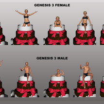 JumpOut Cake and Animations for Genesis 3 Male and Female image 1