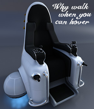 Hover Throne for Poser and DS 3D Models coflek-gnorg