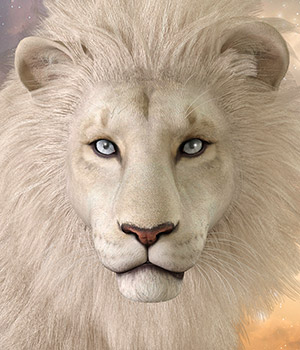 CWRW White Lion for the HiveWIre Lion Family 3D Models cwrw