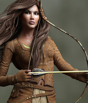 The Huntress for Dawn 3D Figure Assets HiveWire3D