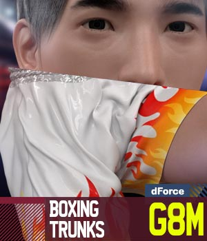 Boxing Trunks G8M for Genesis 8 Male 3D Figure Assets gravureboxing