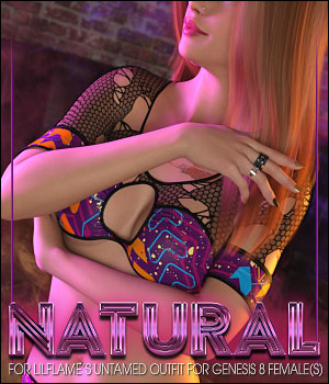 Natural for Untamed Outfit for Genesis 8 Female(s) 3D Figure Assets ShanasSoulmate