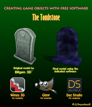 Creating game objects with free software - The Tombstone Tutorials : Learn 3D mgdegenhardt