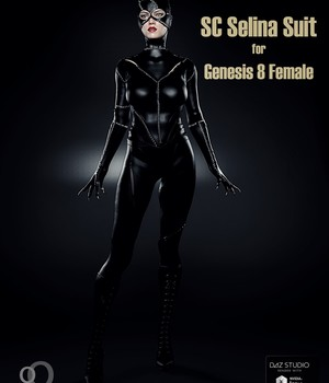 SC Selina Suit for Genesis 8 Female 3D Figure Assets secondcircle