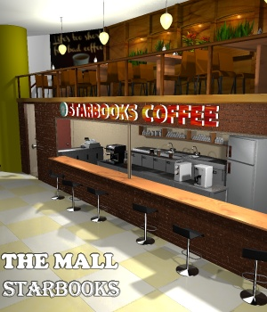 The Mall - Starbooks - Extended License 3D Models Extended Licenses greenpots